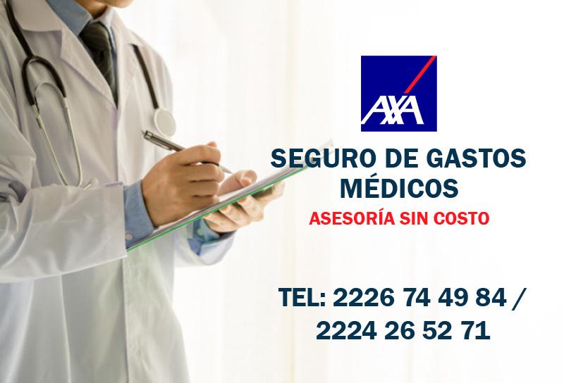 Contratar Seguro de gastos médicos AXA logotipo asesores M&C consultores financieros puebla cdmx monterrey gualajara