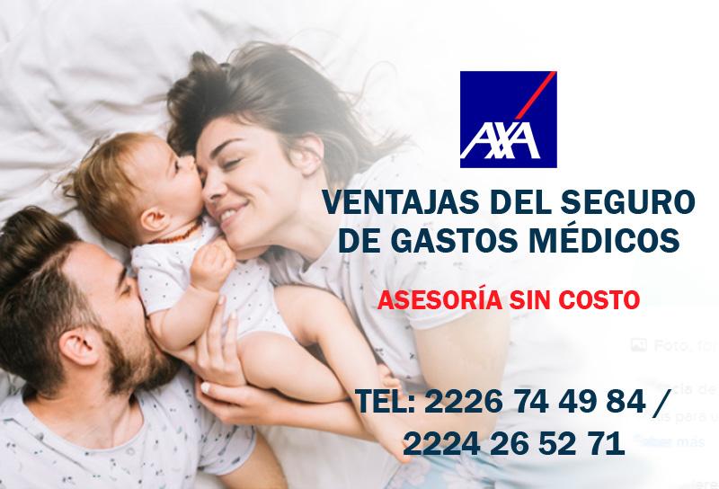 Contratar Seguro de gastos médicos mayores menores AXA logotipo asesores M&C consultores financieros puebla cdmx monterrey gualajara