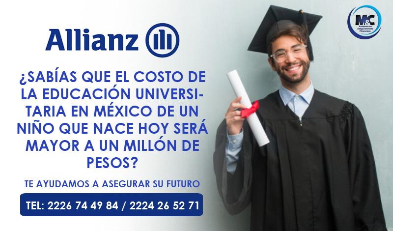 Allianz México seguro de vida seguro gastos medicos inversion mc consultores puebla